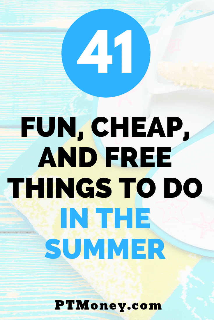 I always struggle to find fun things to do over summer break, especially activities that don't break the bank, this list of 41 fun, cheap, and free things to do in the Summer is fantastic, I can't wait to do a bunch of them with my kids as a family. I especially loved the ones that would earn me money, thinking I can do those to cover the cost of the few that do cost a few bucks, so I'm planning to make the cost of summer break free. #familyfun #summerbreak #frugalliving #kids #summerbreak